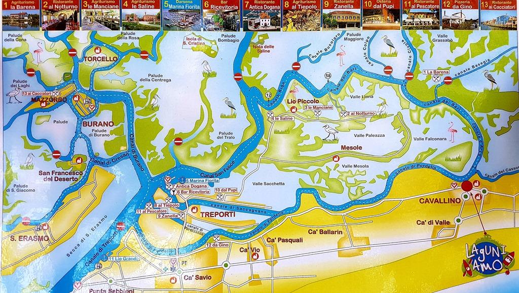 Laguniamo - Cartina Laguna di Venezia